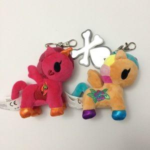 Tokidoki Unicorno Plush key chain clip-on